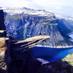 Backpacking in Hardangervidda, Norway to the Troll's Tongue