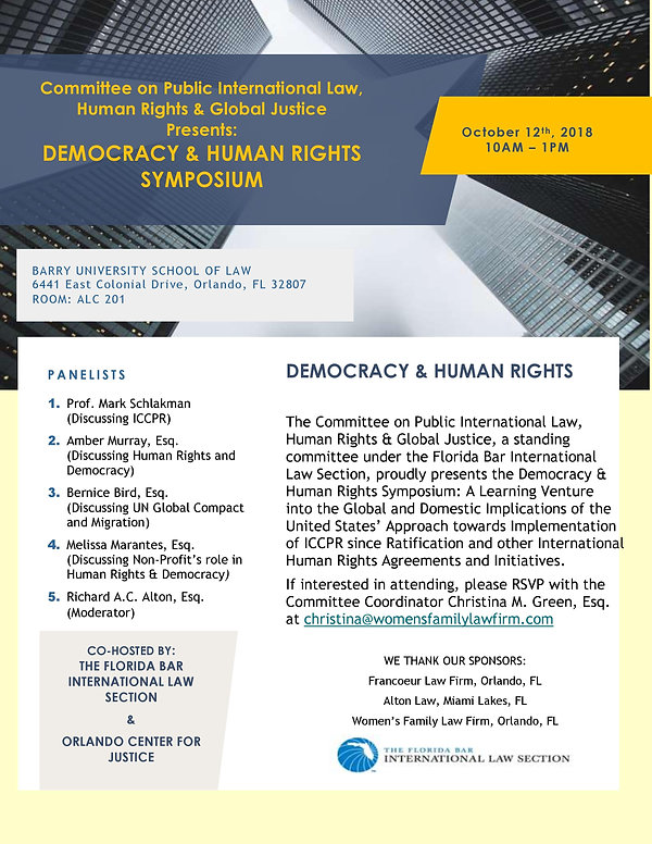 ILS Human Rights Committee Event in Orla