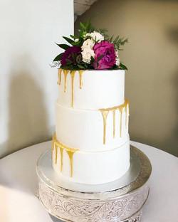 wedding gold drip