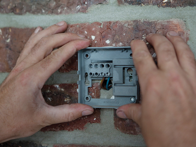 Montiranje termostata na zid