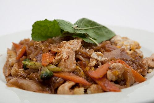 Pad krapau, huisgemaakte noodles-variaties