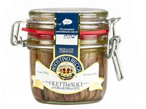 Anchovies in olive oil, Italy