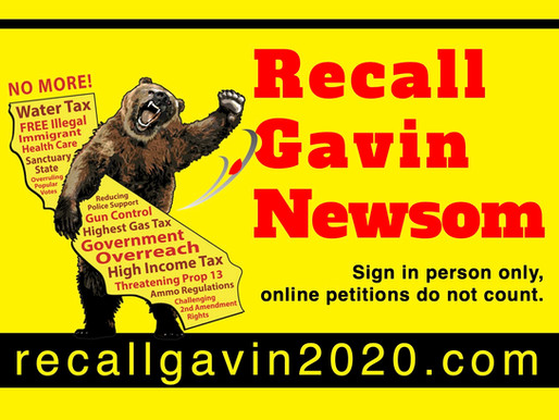 The 'Recall Gavin Newsom' Petition Has A Lot of Support and Could Use More Signatures