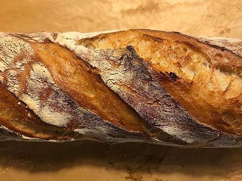 White sourdough baguette