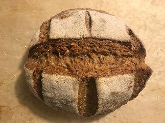 100% whole wheat sourdough extra seeds