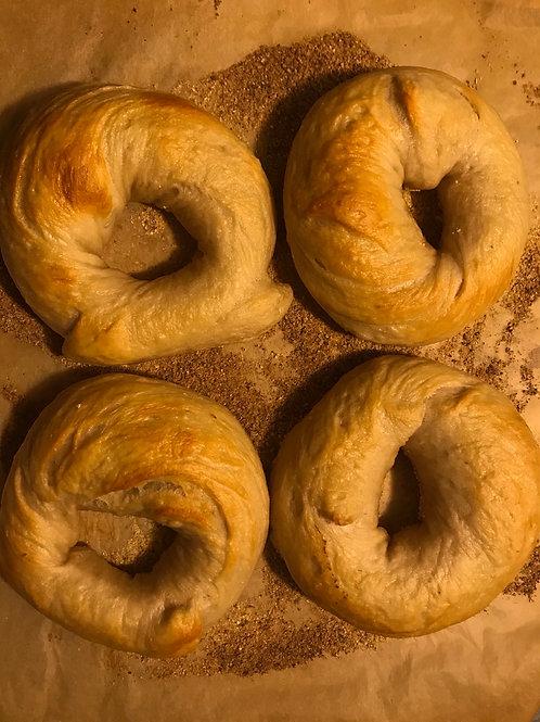 6 plain bagels