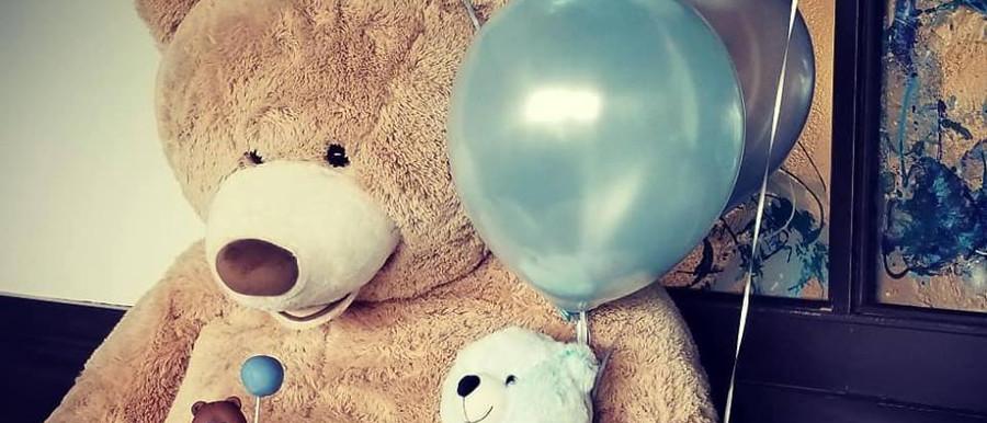 teddy bear set up