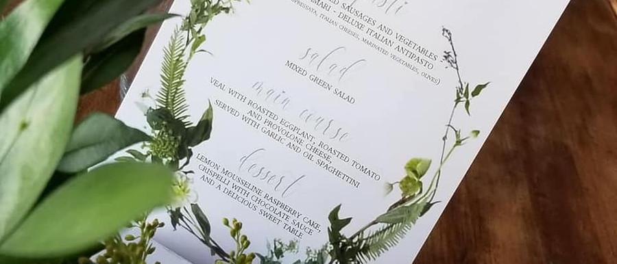 baptism menu
