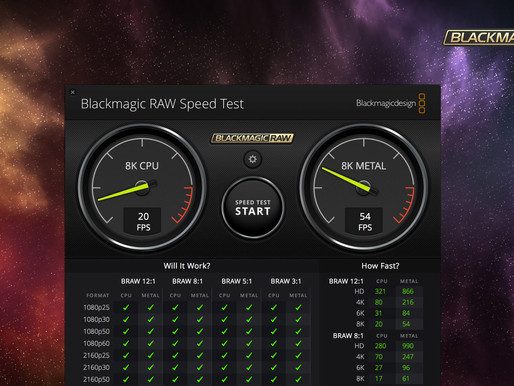 Blackmagic RAW Speed Test