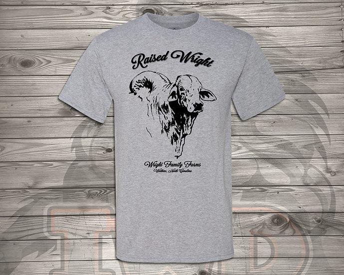 210706.1 - Wright Family Farms - Raised Wright V2 - Unisex Tshirt
