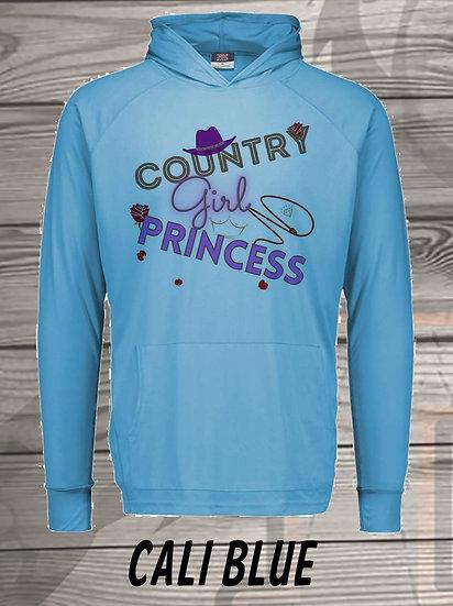 210614.6 - Country Girl Princess  - Long Sleeve Hoodie