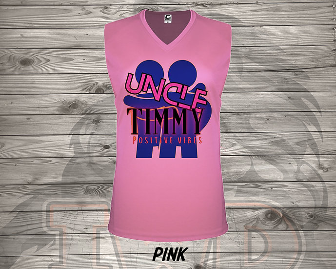210614.4 Uncle Timmy Logo - Ladies V- Neck Sleeveless