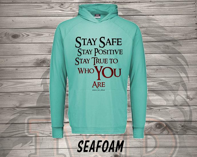 210712.1 Steve LUFC - Stay Safe, Stay Positive, Stay True - Long Sleeve Hoodie