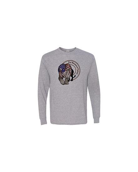 210216.3 Uncensored Patriot Lion Flag Long Sleeve T-Shirt