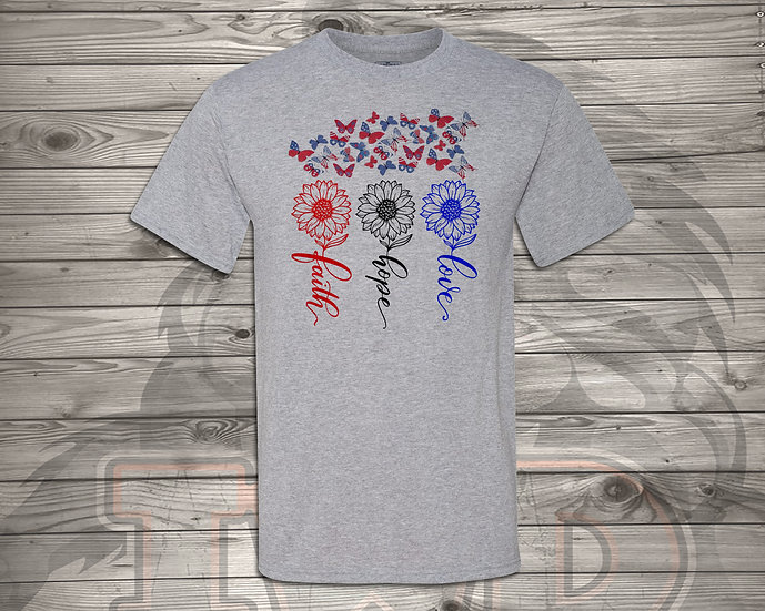 210706.7 - Faith, Hope, Love (RHR) - Unisex Tshirt