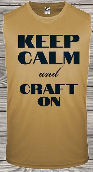 210710.1 Crystal Spangler Keep Calm and Craft On - (Men's Tank)