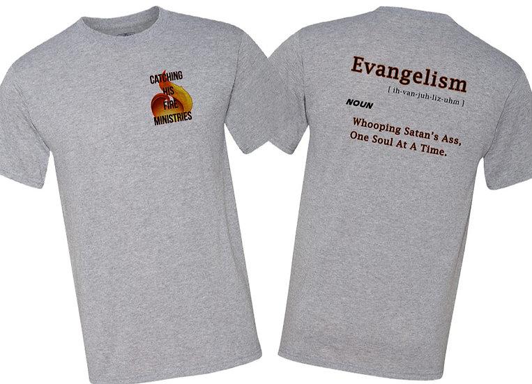 210611.6 - Evangelism - Front Logo - Print on Back -Unisex T-Shirt