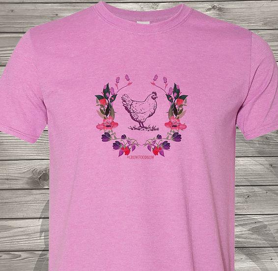 210608.6 - Victory Gardens - Chicken (Flower) - Tshirt