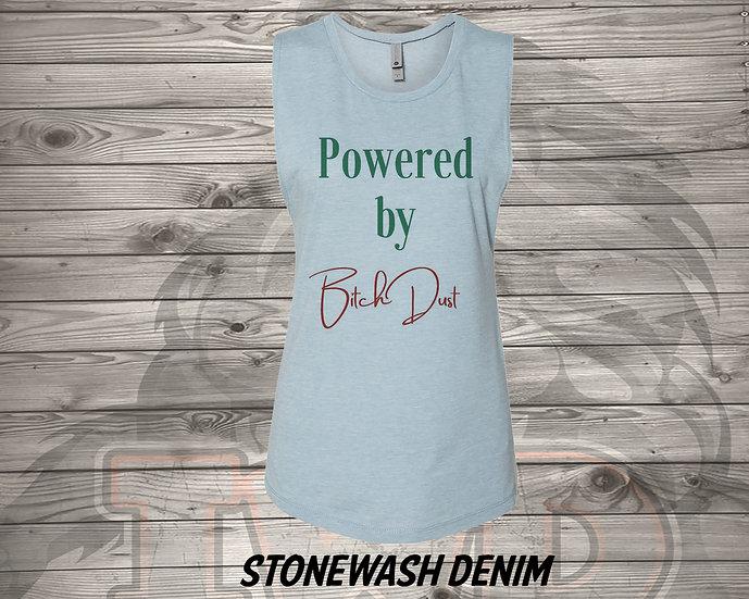 210720.1 Powered By B*tch Dust - Women's Sleeveless Tank - L