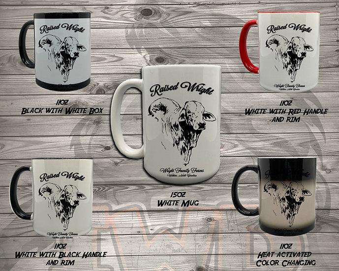 210706.1 - Wright Family Farms - Raised Wright V2  - Coffee Mug