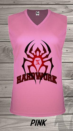 210329.1 The Black Spiderman - Hardwork  - Ladies V- Neck Sleeveless