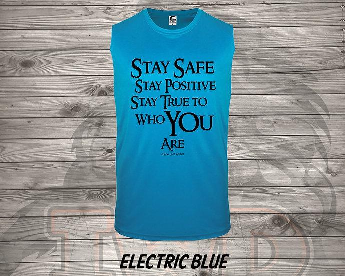210712.1 Steve LUFC - Stay Safe, Stay Positive, Stay True - (Men's Tank)