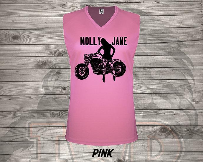 210715.1 Molly Jane Logo - Ladies V- Neck Sleeveless