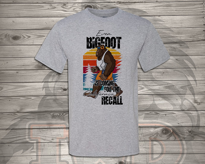 210714.1 Even Bigfoot is Coming to the RECALL- Unisex T-Shirt