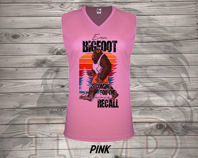 210714.1 Even Bigfoot is Coming to the RECALL - Ladies V- Neck Sleeveless