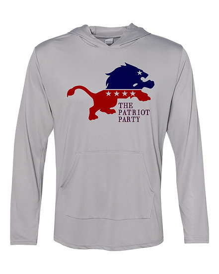 (201229.1) - The New Patriot Party - Long Sleeve Light Hoodie - Free Shipping