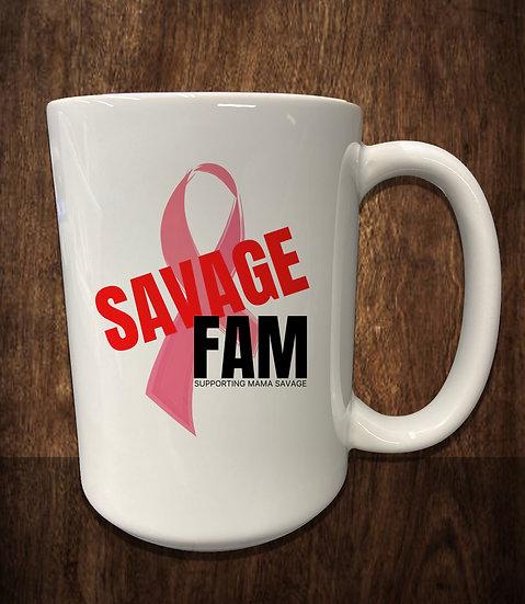 210228.1 Savage Fam - Help Mama Savage Large 15 Ounce Ceramic Coffee Mug