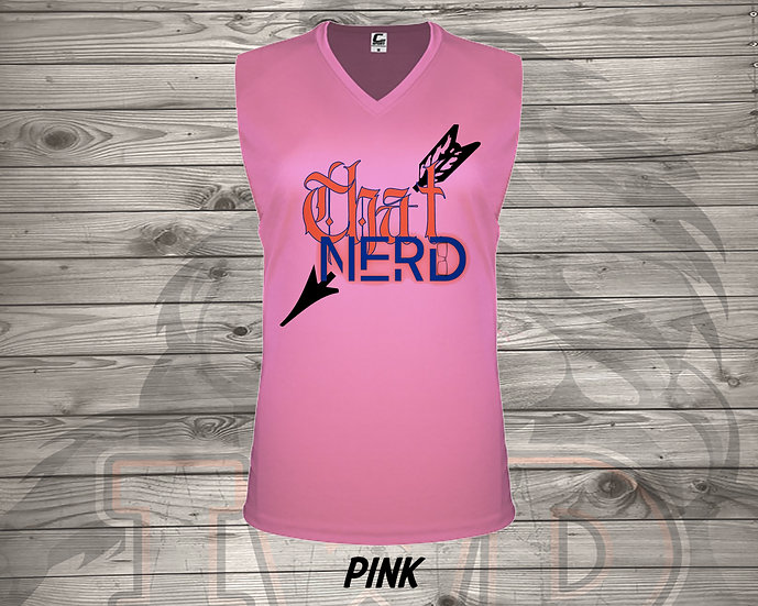 210615.2 - That Nerd With Tattooes Logo - Ladies V- Neck Sleeve