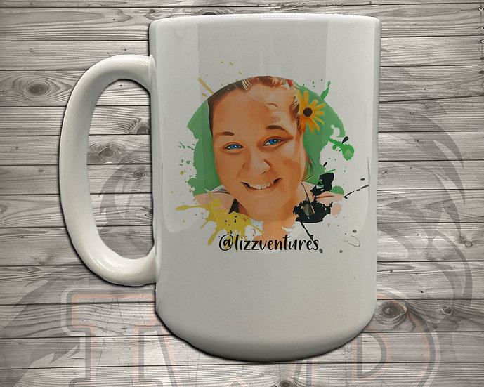 210629.13 LizzVentures Animated Face - 5 Styles of Mugs