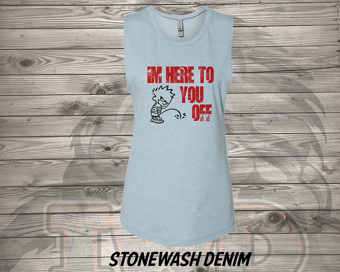 210708.2 BRE - I'm Here To Piss You Off - Women's Sleeveless Tank - L