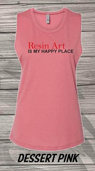 210615.10 - Resin Art - Crystal Spangler - Women's Sleeveless Tan