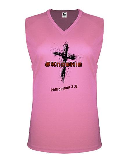 210602.5 - #KnowHim - C2 - Sleeveless V-Neck Womens