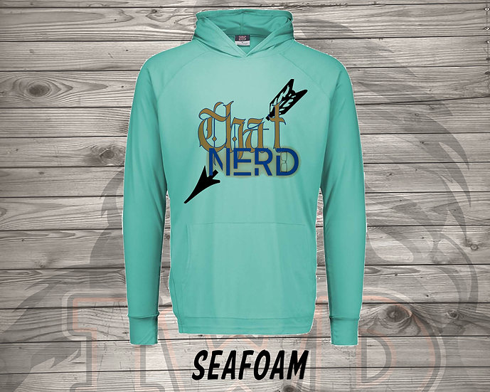 210615.2 - That Nerd With Tattooes Logo - Long Sleeve thin Hoodie