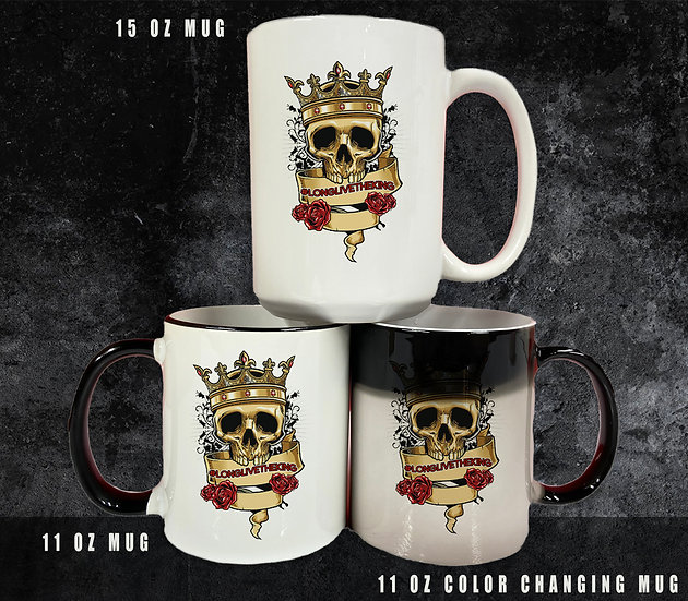210321.1 Skull & Crown (#LONGLIVETHEKING) Coffee Cup