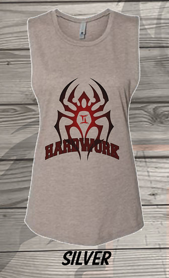 210329.1 The Black Spiderman - Hardwork - Women's Sleeveless Tank - L