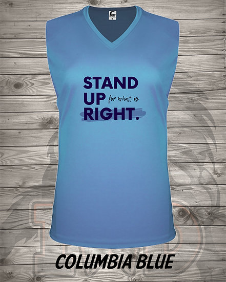 210609.4 - Stand Up - (V-Neck Womens)