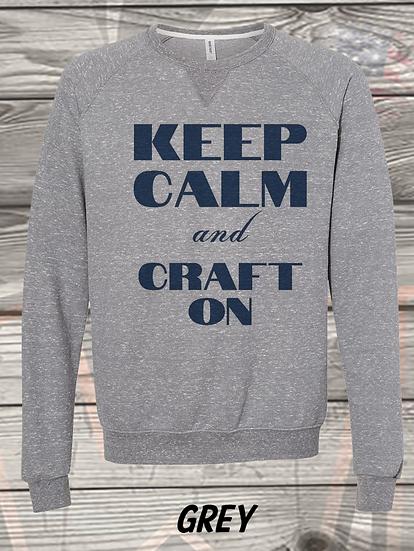 210710.1 Crystal Spangler Keep Calm and Craft On - Sweatshirt