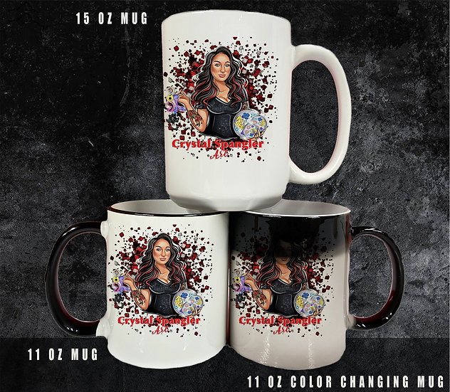 210511.2 Crystal Spangler Art - Coffee Mugs - 3 Sizes Available