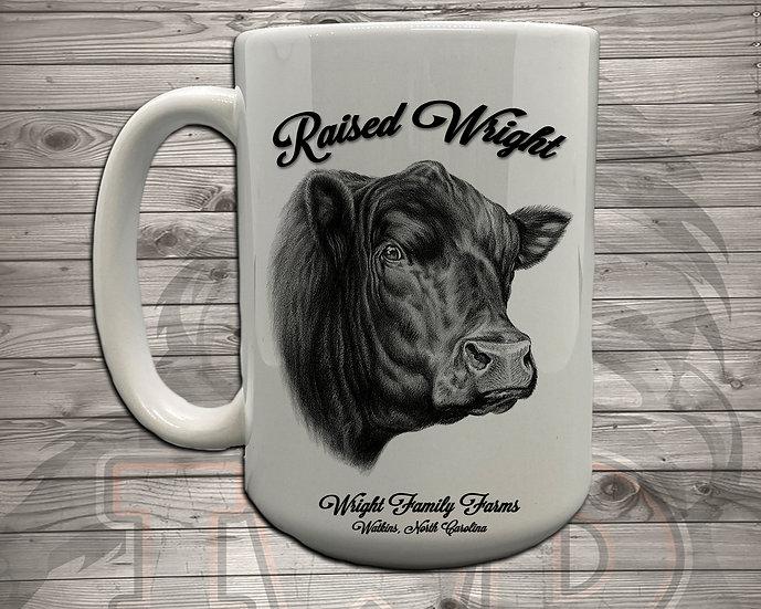 210705.1 - Wright Family Farms - Raised Wright V1 - Coffee Mug