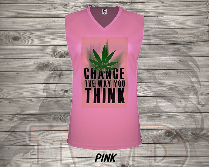 210826.4 Change The Way You Think - Ladies V- Neck Sleeve