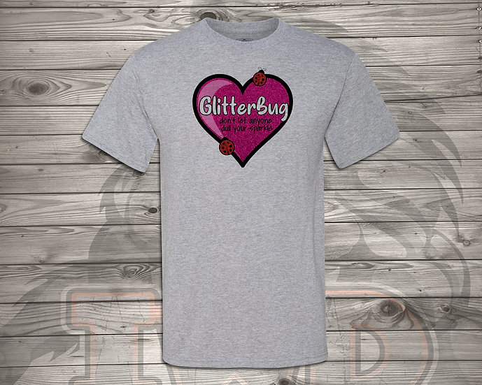 210702.1 Glitterbug Heart - Unisex T-Shirt