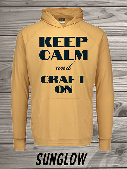 210710.1 Crystal Spangler Keep Calm and Craft On - Long Sleeve Hoodie