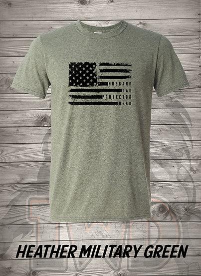 210603.1 - Husband, Dad, Protector, Hero - Unisex T-Shirt
