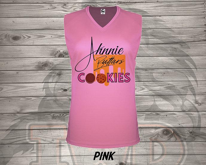 210803.2 - Ahnnie Buttars Cookies  - Ladies V- Neck Sleeve