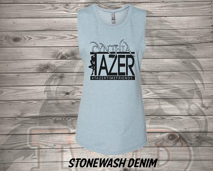 210618.2 - Cynthia Tazer Logo - Women's Sleeveless Tan