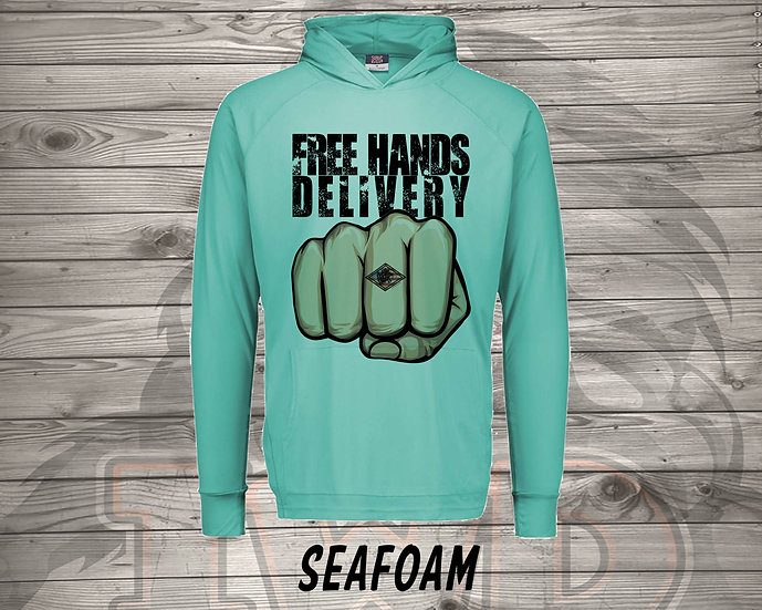 210615.8 - Hands Free Delivery - Long Sleeve Hoodie